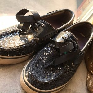 lightly worn. patent leather Sperry topsiders.